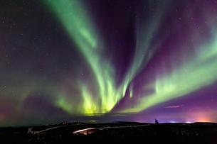アラスカ フェアバンクスのオーロラの写真素材 [FYI04090557]