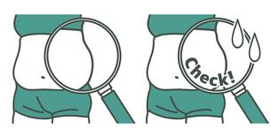 ダイエット-ウエスト-メタボ-2色のイラスト素材 [FYI04090630]