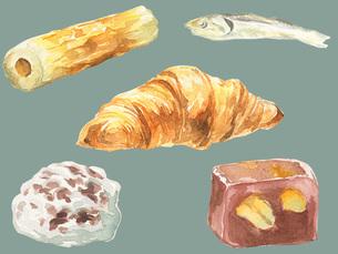 日配品食べ物セットのイラスト素材 [FYI04091333]