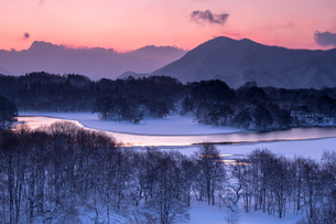 小野川湖お立ち台の写真素材 [FYI04091485]