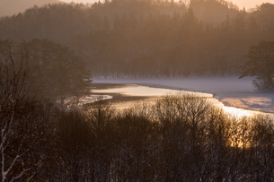 小野川湖お立ち台の写真素材 [FYI04091486]