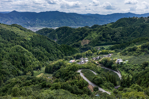和歌山と大阪の県境、蔵王峠から見た和歌山の写真素材 [FYI04091970]