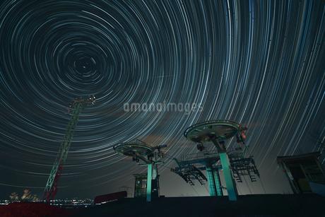 星の軌跡の写真素材 [FYI04092036]
