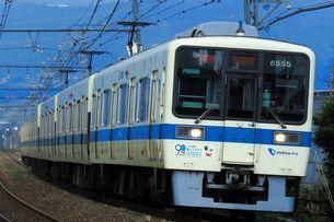 江ノ島線開業90周年記念の小田急8000形の写真素材 [FYI04092354]