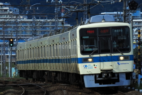 江ノ島線開業90周年記念の小田急8000形の写真素材 [FYI04092368]