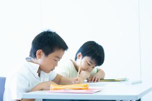 勉強する小学生の写真素材 [FYI04092600]