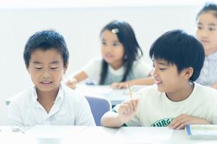 勉強する小学生の写真素材 [FYI04092604]