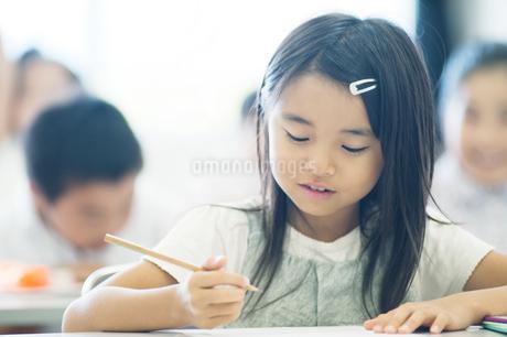 勉強する小学生の写真素材 [FYI04092610]