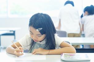 勉強する小学生の写真素材 [FYI04092615]