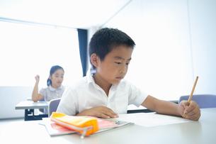 勉強する小学生の写真素材 [FYI04092622]