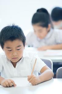 勉強する小学生の写真素材 [FYI04092628]