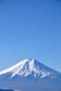 青天に富士山の写真素材 [FYI04092694]
