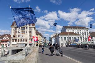スイス、バーゼル市街の写真素材 [FYI04093087]