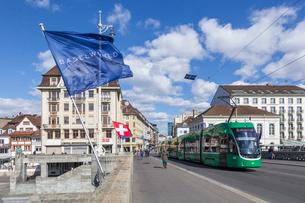 スイス、バーゼル市街の写真素材 [FYI04093090]
