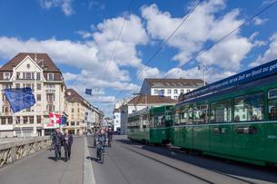 スイス、バーゼル市街の写真素材 [FYI04093091]