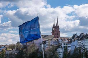 スイス、バーゼル旧市街の写真素材 [FYI04093112]