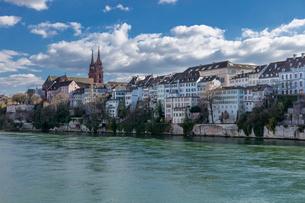 スイス、バーゼル旧市街の写真素材 [FYI04093119]