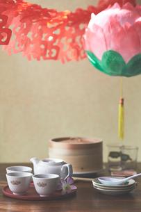 台湾装飾と食卓の写真素材 [FYI04093229]