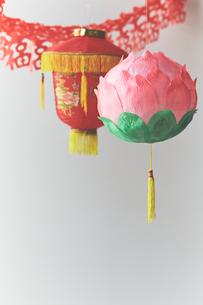 中華提灯の写真素材 [FYI04093232]