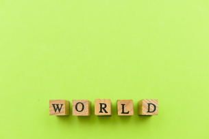 アルファベット テキスト 文字 英字 単語 スタンプ 素材 緑の写真素材 [FYI04093272]