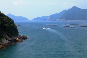 8月 中ノ磯展望台から熊野灘を展望するの写真素材 [FYI04093379]