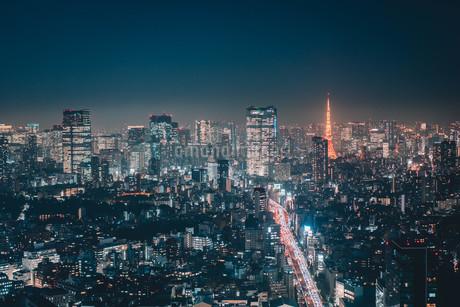 東京都心の夜景の写真素材 [FYI04093990]