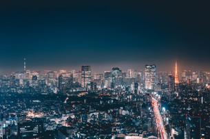 東京都心の夜景の写真素材 [FYI04093991]