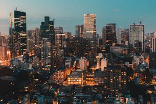 東京都心の夜景の写真素材 [FYI04094002]