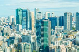 東京タワー展望台から見える東京の街並みの写真素材 [FYI04094908]