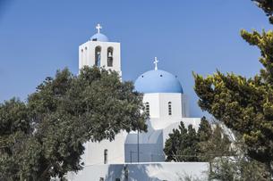 フィロステファニのブルードームの教会の写真素材 [FYI04094939]
