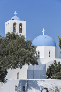 フィロステファニのブルードームの教会の写真素材 [FYI04094940]