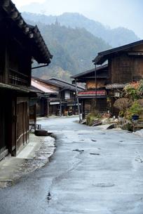 中山道妻籠宿の写真素材 [FYI04094988]