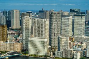 カレッタ汐留の展望台から見える東京の街並みの写真素材 [FYI04094995]
