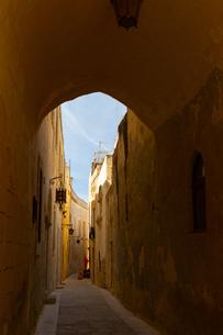 マルタ騎士団の古都イムディーナ、中世の街の写真素材 [FYI04095129]
