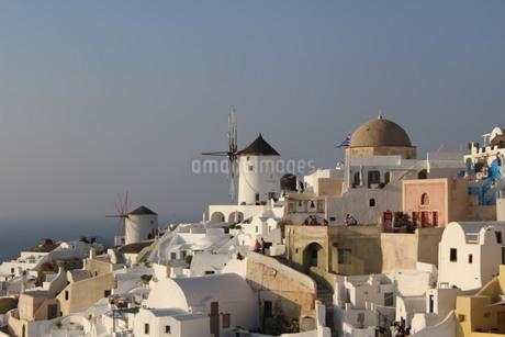 ギリシャ の風車の写真素材 [FYI04095223]