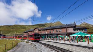 スイス、クライネシャイデック駅の写真素材 [FYI04095301]