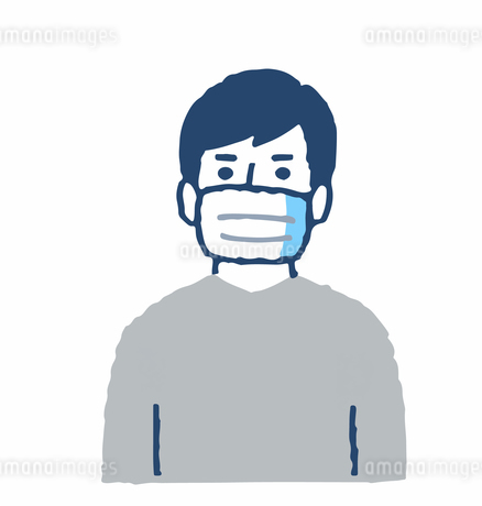 マスクをしている男性のイラスト素材 [FYI04095343]