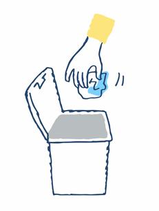 蓋付きゴミ箱とゴミのイラスト素材 [FYI04095357]