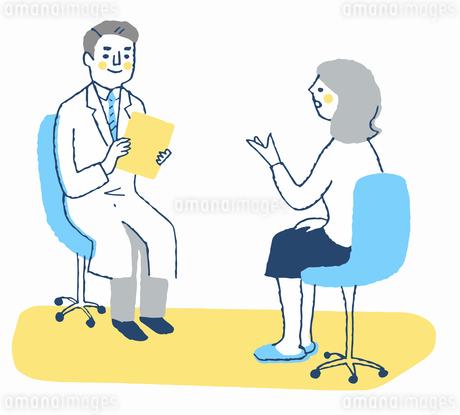 医者と患者 診察のイラスト素材 [FYI04095358]