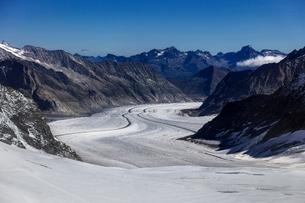 スイス、アレッチ氷河の写真素材 [FYI04095374]