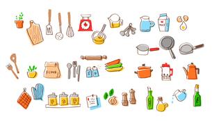 キッチン用品 材料セットAのイラスト素材 [FYI04095445]