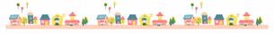 家並み2 ピンクのイラスト素材 [FYI04095456]