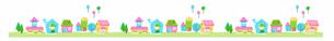 家並み2 グリーンのイラスト素材 [FYI04095457]