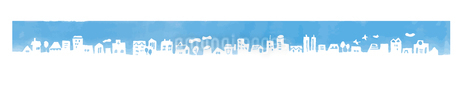 街並み シルエット ブルーのイラスト素材 [FYI04095458]