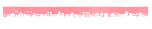 街並み シルエット ピンクのイラスト素材 [FYI04095460]