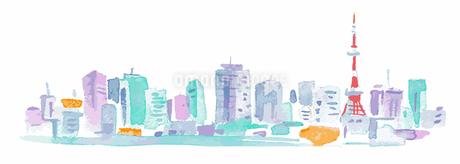東京タワーとビル群のイラスト素材 [FYI04095461]