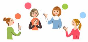 会話する女性たちのイラスト素材 [FYI04095473]