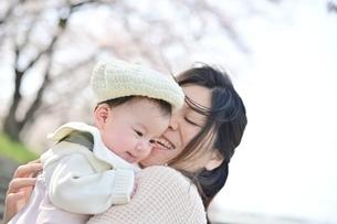 赤ちゃんを抱くお母さんの写真素材 [FYI04095557]