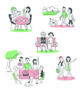 ライフシーン セット ピンクのイラスト素材 [FYI04095612]