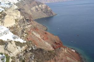 サントリーニ島 海の写真素材 [FYI04095800]